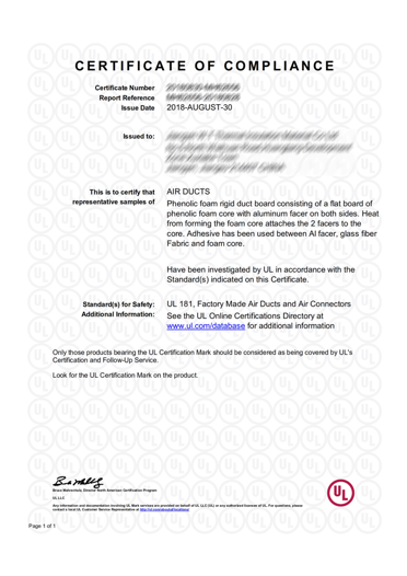 Certificates – KLS Insulation Systems